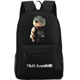 Packing Bag Machine Canada - NieR Automata backpack Machine fighter school bag New game daypack Steam schoolbag Outdoor rucksack Sport day pack