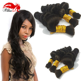 $enCountryForm.capitalKeyWord NZ - Loose Curly Braiding Human Hair Bulk 3Pcs Lot Bulk Hair For Braiding No Attachment Brazilian Virgin Hair loose Wave Hannah Product