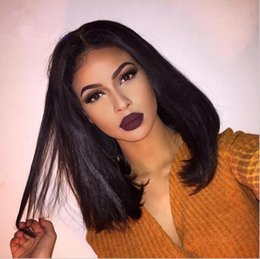 Black Bob Hairstyles Middle Part Online Shopping | Middle Part Bob ...