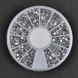 Clou De Diamant Pas Cher-Vente en gros-1700 PCS 1.5mm 3D Diy clous strass Glitter Diamond Gems Nail Tips nail Art Beauté décoration roue NA997