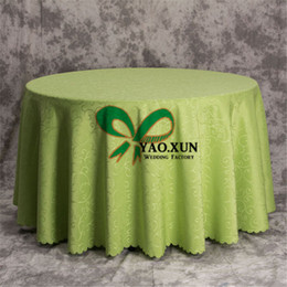 $enCountryForm.capitalKeyWord NZ - 10pcs Wholesale Poly Jacquard Damask Table Cloth \ Cheap Wedding Tablecloth