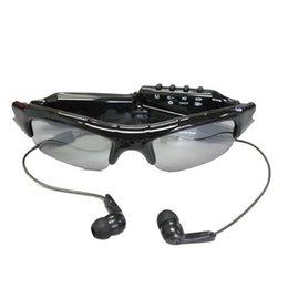 Солнцезащитные очки камера с MP3-плеер портативный очки DVR мини видеокамера солнцезащитные очки DVR мини аудио видеорегистратор Черный в розничной коробке
