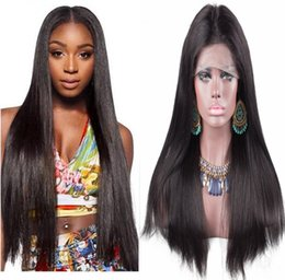 $enCountryForm.capitalKeyWord NZ - Top hair quality 30inch silky straight unprocessed brazilian hair high ponytail lace front wigs full lace wigs free shipping