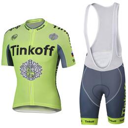 jersey cycling saxo green 2019 - Free shipping Saxo Bike jersey gel pads bibs shorts Green color team thinkoff cycling jersey bike shorts mens summer cyc