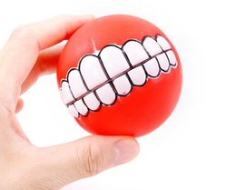 Halloween silicon online shopping - New Pet Puppy Dog Funny Ball Teeth Silicon Toy Chew Sound Dogs Play Toys
