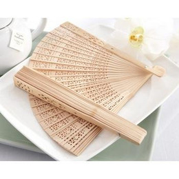 Hand fans folding carved online shopping - 2017 Vintage Folding Bamboo Hand Fans Wooden Hollow Carved Wedding Dancing Bridal Party Decor Fragrant Sandalwood Fan free shipp