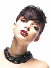 China 6A Grade Glueless Full Lace Rihanna Chic Cut Short Human Hair Wigs Unprocessed Virgin Brazilian Human Hair Wigs For Black Women cheap rihanna human hairs suppliers