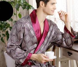 $enCountryForm.capitalKeyWord Canada - B502 Men Silk Sleepwear Long Sleeve night-robe spring thin silk pajamas for man L XL 3XL 4XL free ship mix order