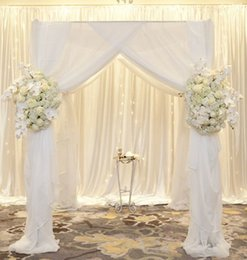Romantic Fancy Used Pipe And Drape For Rentals Flower Occasion Wedding  Decoration Drapy Background Stage Supplies Flowers Used Wedding Decorations  For Sale