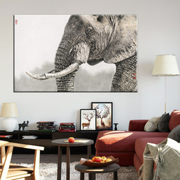 Hot Sale Spray Paintings Wall Art Canvas Paint Animal Elephant Portrait Multi Sizes Wholesale For Home Living Room Decor 2