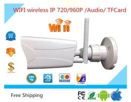 $enCountryForm.capitalKeyWord NZ - WIFI wireless IP Bullet Camera CCTV HD 720 960P Support TFCard outdoor Waterproof IP65 Audio ONVIF P2P Security