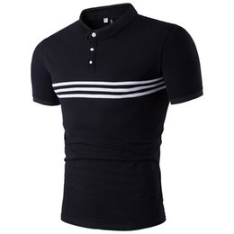 Chinese  Brand Stripes Poloshirts For Men 2017 Hot Luxury Men's T Shirts Wholesale Summer Shortsleeve Tees Freeshipping manufacturers