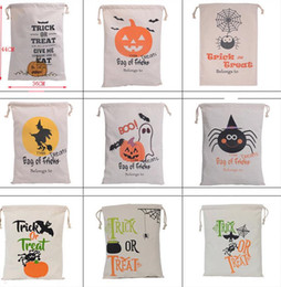 $enCountryForm.capitalKeyWord Australia - Factory price!DHL Halloween candy bags Large Canvas Hand Bags Trick or treat Pumpkin Devil Spider Halloween Gift Bags In stock