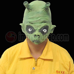 $enCountryForm.capitalKeyWord Canada - Halloween Party Latex Mask Realistic UFO Alien Head Mask Latex Creepy Costume Party Cosplay Scary Movie Dragon Ball Mask Fancy costume