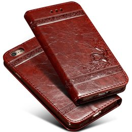Iphone 5s Vintage Leather Case UK - For iPhone X 8 7 plus 6s 5s Vintage Retro Flip Wallet Leather Case With Card Slot Kickstand Cases Cover For Samsung note 8 s9 s9 plus