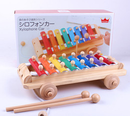 Children toys piano online shopping - Eight tones on piano music wooden toys children instrument Baby quiz drag toys
