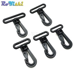 wholesale plastic snap hook NZ - 50pcs lot Plastic Swivel Snap Hooks Buckle for Backpack Belt Straps Briefcase Strap Clasp Garment