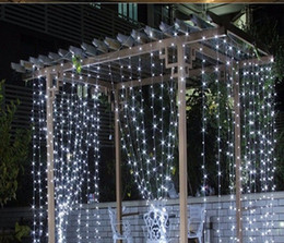 Purple Holiday Lights NZ - Free Shipping 3M x 3M 300 LED Home Outdoor Holiday Christmas Decorative Wedding xmas String Fairy Curtain Garlands Strip Party Lights