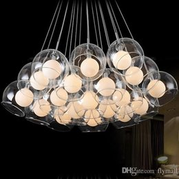 Modern 19 Lights Glass Blub Ceiling Pendant Lamp Chandeliers Living Room Minimalist Restaurant Chandelier Light Bedroom