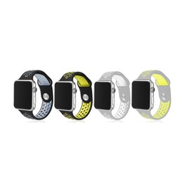 Double banD watch bracelet online shopping - Sport Double Colors WatchBand colors Available WatchBand For Apple Watch Strap Split Silicone Wrist Band Strap For apple watch