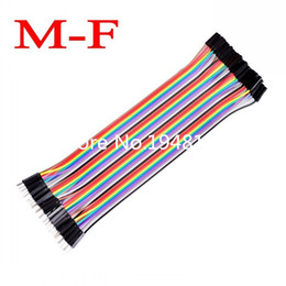 arduino dupont wire 2019 - Wholesale-40pcs 20cm 1p-1p female to male jumper wire Dupont cable for Arduino Breadboard cheap arduino dupont wire