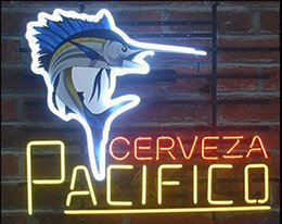 Discount pacifico neon signs Fashion Handcraft Cerveza Pacifico Real Glass Tubes Beer Bar Pub Display neon sign 19x15!!!