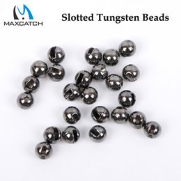 2018 fly tying tools Wholesale- Maxcatch 25Pcs lot Nice-Designed Slotted Tungsten Beads Fly Tying Beads Tungsten 2.4mm 2.8mm 3.3mm 4.0mm Fly