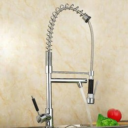 vessel mixer tap UK - Big Spring Kitchen Faucet Chrome Pull Down Single Handle Swivel Spout Vessel Sink Mixer Tap