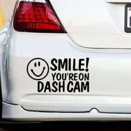 $enCountryForm.capitalKeyWord Canada - SMILE!YOU'RE ON DASH CAM Car Van Window Bumper Novelty Camera Security Sticker