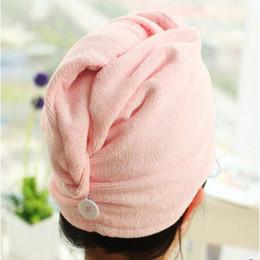 Super Magic Towel Canada - Microfiber Magic Hair Towel Dry Hat Superfine Fibre Bath Towel Super Absorbent Fiber Quick-Dry Hat Fashion Home Supplies