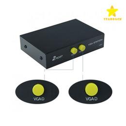 2 порта 2 в 1 из VGA SVGA монитор Sharer селектор пульт дистанционного переключения адаптер для ЖК-ПК ТВ монитор