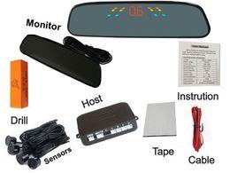 Probe Car UK - Big LED car Parking Sensors PZ306 Car Crescent Beeper Reversing Radar Four Probes Numeral LED Digital Display Free DHL