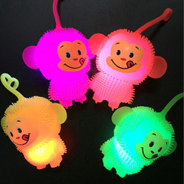 girls sports toys 2019 - Light emitting small Maomao monkey fur ball ball toy wholesale wholesale stalls discount girls sports toys