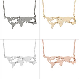 Shop world map pendant uk world map pendant free delivery to uk 2017 fashion world map combination pendant necklace personality exaggerated irregular hollow clavicle chain choker necklaces unisex jewelry gumiabroncs Gallery
