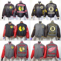 Full Zip Jacket Polyester NZ - Men's Boston Bruins Chicago Blackhawks Detroit Red Wings Los Angeles Kings New York Islanders Rangers Authentic Rink Full-Zip Jacket