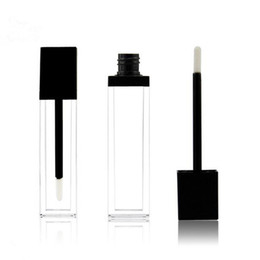 $enCountryForm.capitalKeyWord UK - 8ml square shape ACRYLIC transparent lip gloss tube mascara tube with black lid empty tube fast shipping F2017578