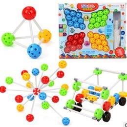 Kids Toys Blocks Plastic Canada - 1set Children Colorful Plastic Beads Match Building Blocks Baby Assembling Learning Toys Children's Educational Toys for Kids