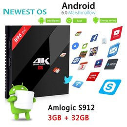 Android Tv Box 3g Canada - H96 Pro Plus Android 6.0 TV Box Amlogic S912 Octa-Core 3G 32G Marshmallow Dual Wifi HDMI 4K Media Player