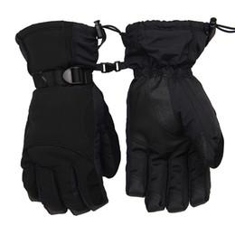 Leather snowboard gLoves online shopping - New Winter Outdoor Sport Ski Snow Waterproof Double Gloves Black Degree Fleece Warm Glove Snowboard Motorcycle Riding Gloves