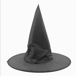 $enCountryForm.capitalKeyWord NZ - Adult Women Black Witch Hat For Halloween Costume Accessory Hot Sale Costume Party Props Harry Potter Cap kids cape hat