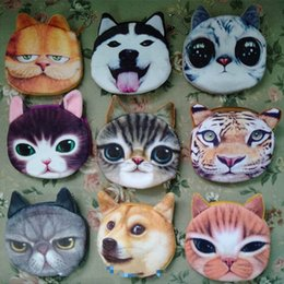 $enCountryForm.capitalKeyWord Australia - 3D girl wallet bag ladies face zipper mini cat coin purses dog children's purse plush bolsa de moeda coins pouch monedero gato