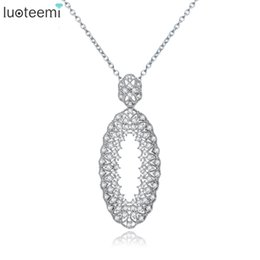 Oval gold pendant settings suppliers best oval gold pendant luoteemi vintage oval pendant micro shining cz crystal necklace white gold color flower jewelry for women wedding jewelry gift oval gold pendant settings mozeypictures Choice Image