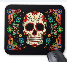 Mice Direct Canada - High quality wholesale factory direct 260*210*3mm rubber and cloth fiesta skull mat non-slip rubber mouse pad high quality speed version