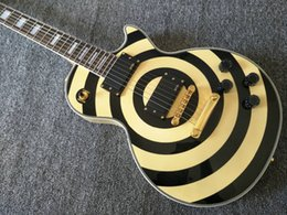 InlaId guItars online shopping - One Piece Neck Zakk Wylde bullseye Cream Black Electric Guitar EMG Pickups Gold Truss Rod Cover White MOP Block Fingerboard Inlay
