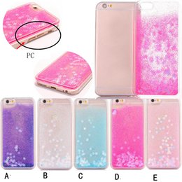 skins move 2018 - Snow Glitter Bling Liquid Hard Plastic Case For Iphone X 8 7 6 6S Plus SE 5 5S PC Quicksand Sparkle Floating Clear Magic