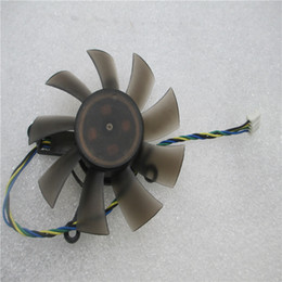 75mm 12v fan Canada - EVERFLOW R128015SU 75mm Graphics   Video Card Cooler Fan Replacement 4 x 43mm 12V 0.50A 4Pin for ASUS HD5830 HD6850 GTS 260 450