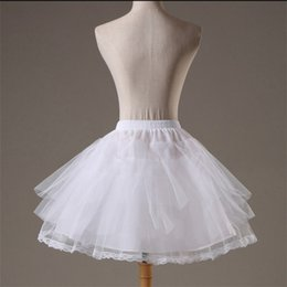 $enCountryForm.capitalKeyWord Australia - Hot Sale 2017 Cheap White Tulle Short Kids Girl Petticoats Crinoline Flower Baby Dress Petticoat Underskirt Free Shipping