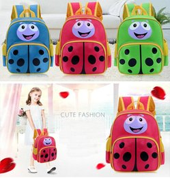 Wholesale Kids Shoulder Bag Canada - Free Ship Cute Ladybug Design Baby Kindergarten Daypack Children Cartoon School Backpack Fanny Backpacks Kids Shoulders Bags