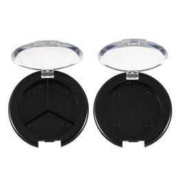 Toptan-5 adet / takım Plastik Boş Göz Farı Durumda Paleti Tek Durumda Yuvarlak Kavanoz Tozu Kozmetik Kompakt Konteyner DIY Makyaj Aracı indirimde