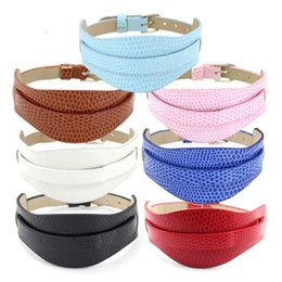 Snap Bands UK - 18+8MM Double Layers Leather Metal Wristband watch band Bracelets DIY Accessory Fit Slide Letter & noosa snap button bracelet